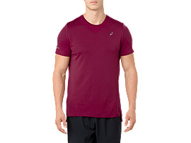 SEAMLESS SS, CORDOVAN HEATHER