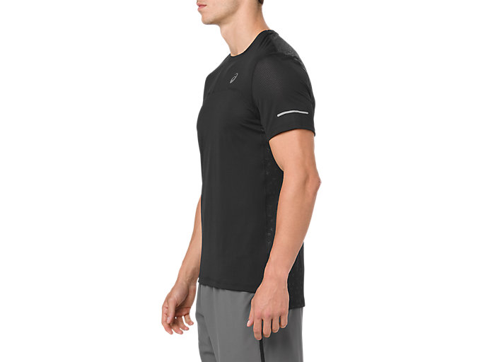Side view of COOL SS TOP, PERFORMANCE BLACK/DARK GREY