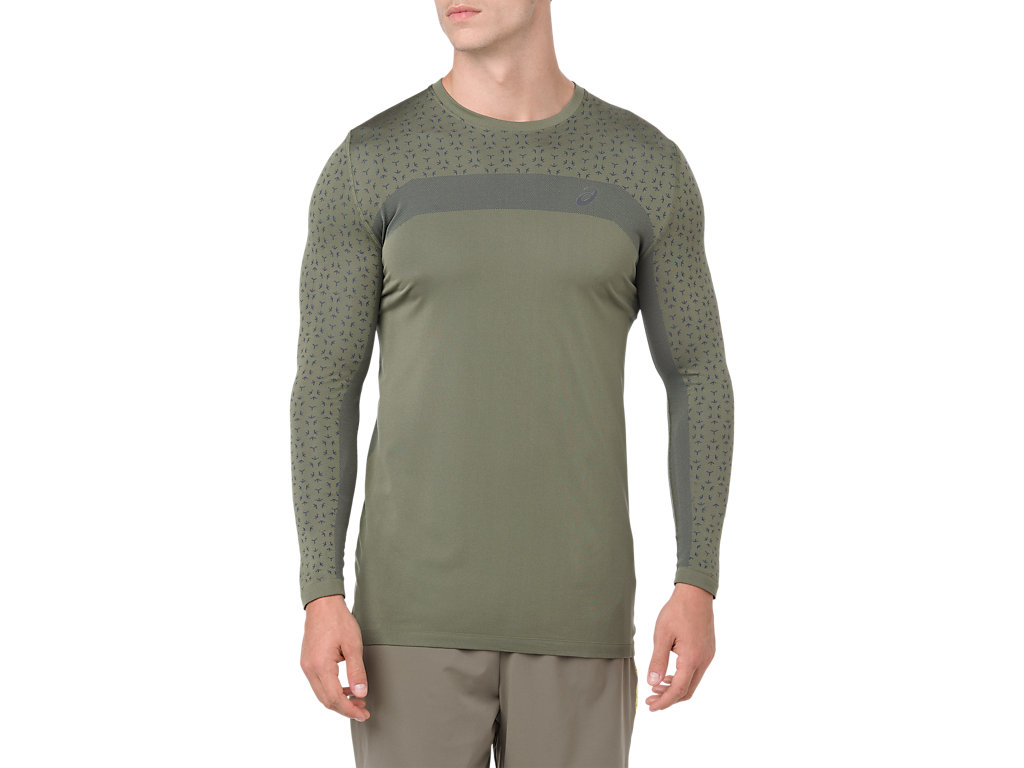 88a3829694 SEAMLESS LS TEXTURE | Men | IRVINE | Men's Long Sleeve Shirts | ASICS