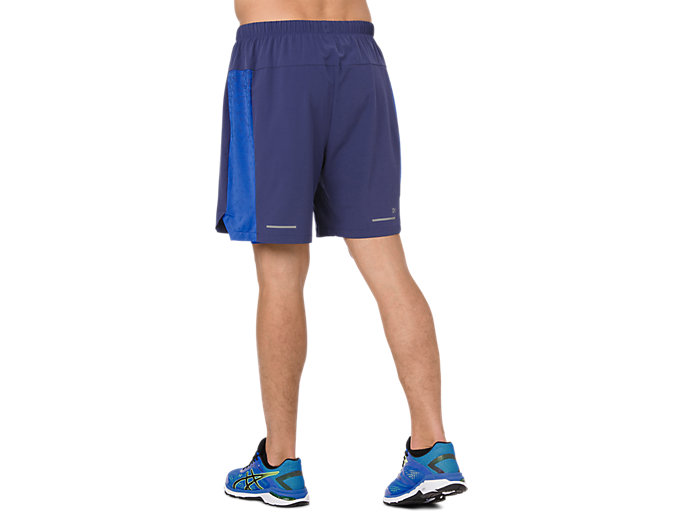 Back view of 2-N-1 7IN SHORT, INDIGO BLUE/ILLUSION BLUE