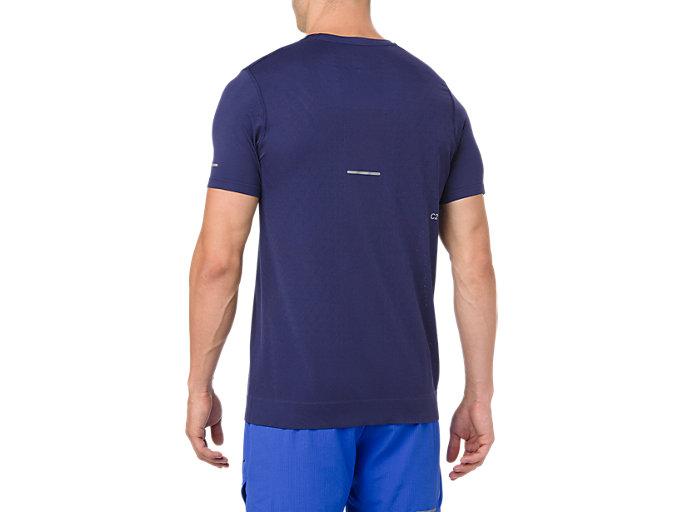 Back view of LITE-SHOW SS TOP, INDIGO BLUE