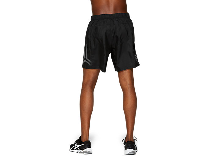 Back view of ICON SHORT, PERFORMANCE BLACK/MID GREY