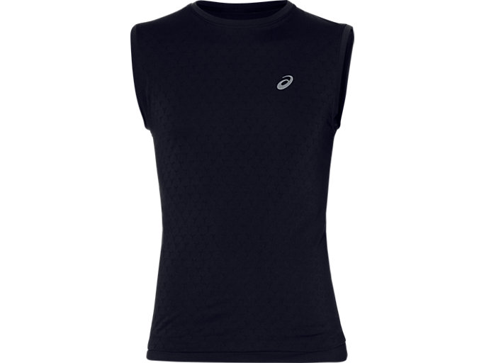 Front Top view of GEL-COOL SLEEVELESS, PERFORMANCE BLACK