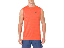 Front Top view of GEL-COOL SLEEVELESS, NOVA ORANGE
