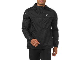 Front Top view of LITE-SHOW JACKET, PERFORMANCE BLACK