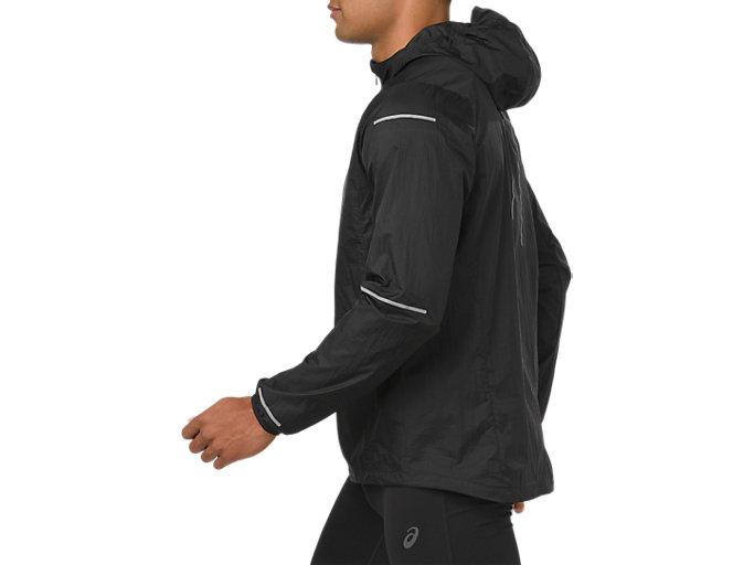 Side view of LITE-SHOW JACKET, PERFORMANCE BLACK