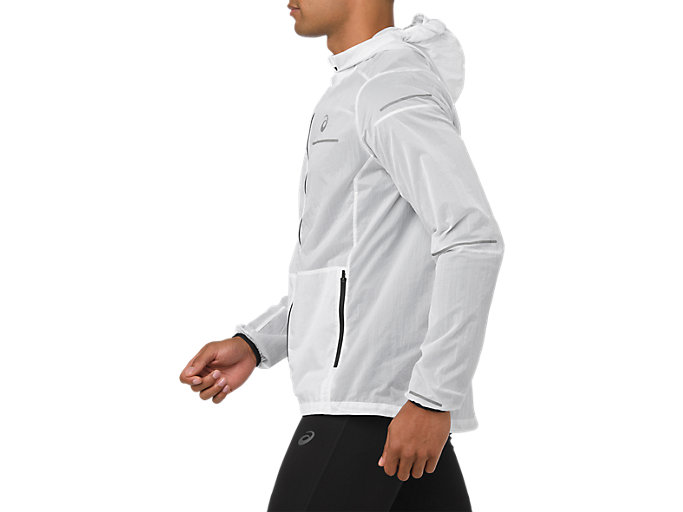 Side view of LITE-SHOW JACKET, BRILLIANT WHITE