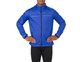 Front Top view of LITE-SHOW JACKET, ILLUSION BLUE