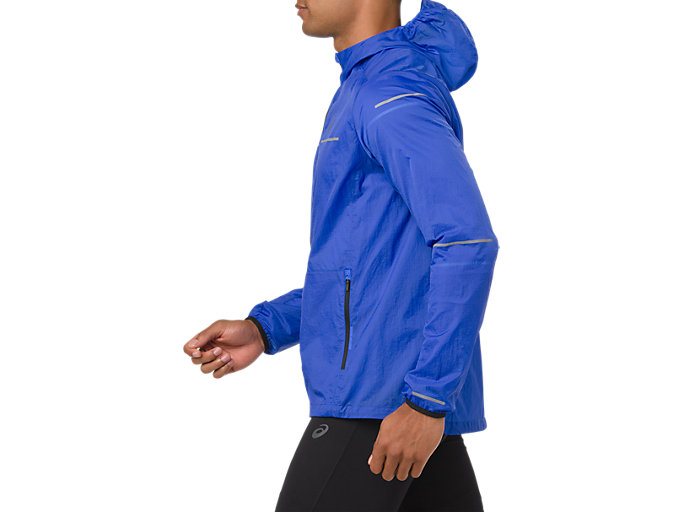 Side view of LITE-SHOW JACKET, ILLUSION BLUE