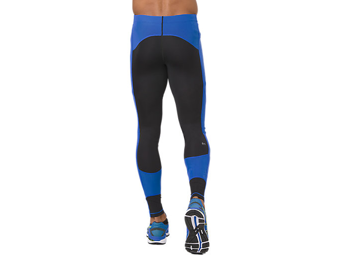 Back view of LEG BALANCE TIGHT 2, PERFORMANCE BLACK/ILLUSION BLUE
