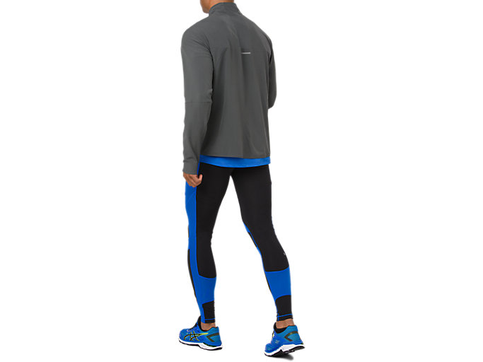 Back view of LEG BALANCE 2 TIGHT, PERFORMANCE BLACK/ILLUSION BLUE