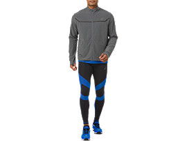 Front Top view of LEG BALANCE TIGHT 2, PERFORMANCE BLACK/ILLUSION BLUE