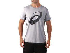 Activewear Tops Sporting Goods Asics Graphic Mens Running Top Grey Short Sleeve T-shirt Gym Run Sports Training Colours Are Striking