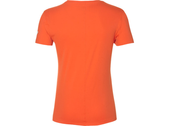 Back view of SILVER GRAPHIC SS TOP #3, NOVA ORANGE
