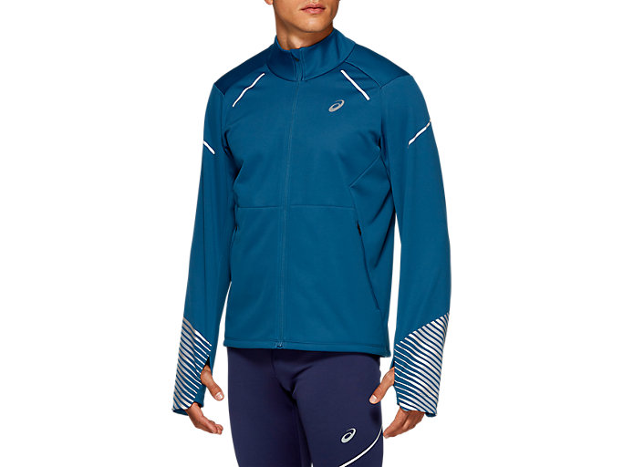 Front Top view of LITE-SHOW™ 2 WINTER JACKET, Mako Blue