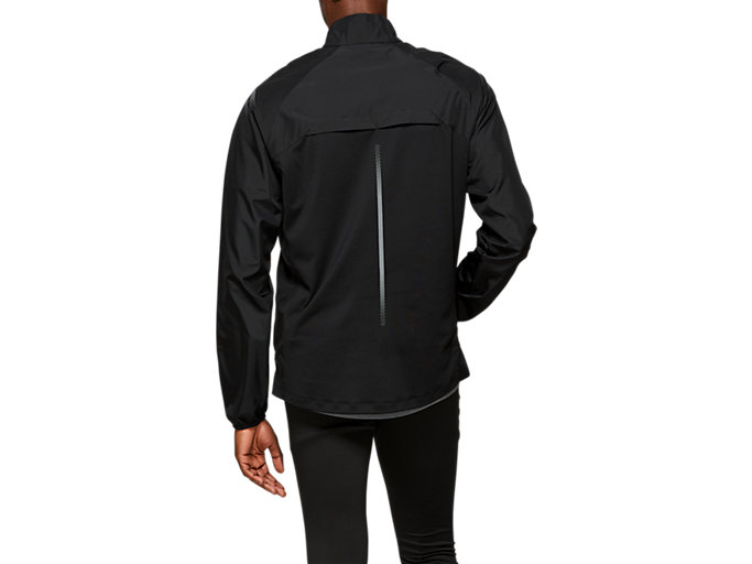 Back view of ICON JACKET, PERFORMANCE BLACK