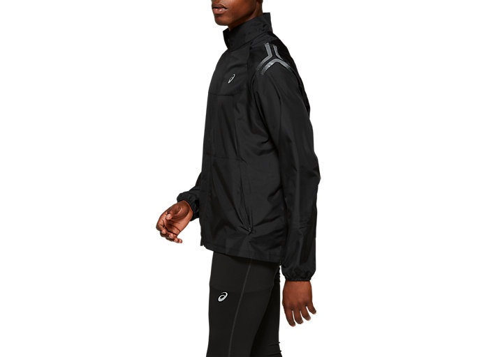 Side view of ICON JACKET, PERFORMANCE BLACK