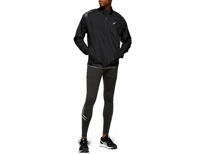 Front Top view of ICON JACKET, PERFORMANCE BLACK