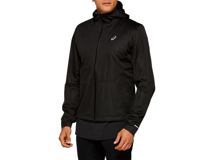 Front Top view of WINTER ACCELERATE JACKET, PERFORMANCE BLACK