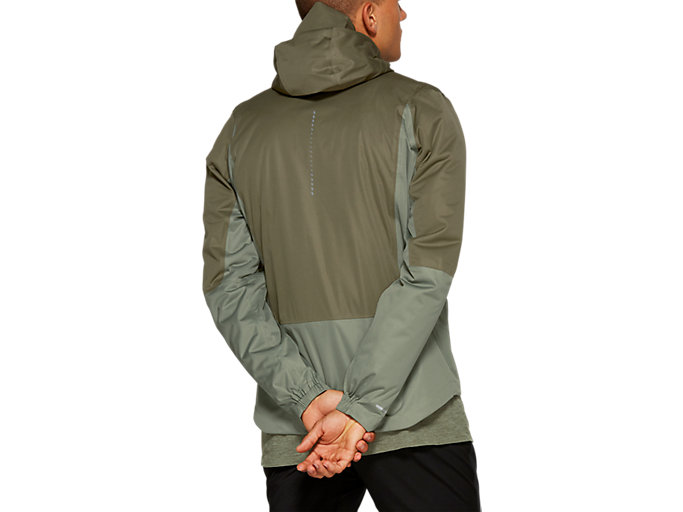Back view of WINTER ACCELERATE JACKET, MANTLE GREEN / LICHEN GREEN