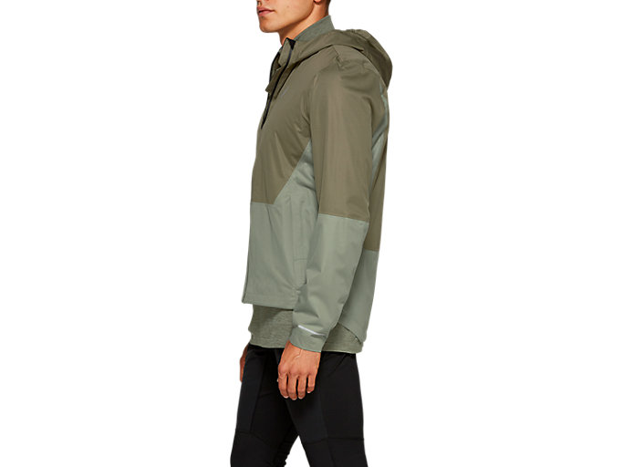 Side view of WINTER ACCELERATE JACKET, MANTLE GREEN / LICHEN GREEN