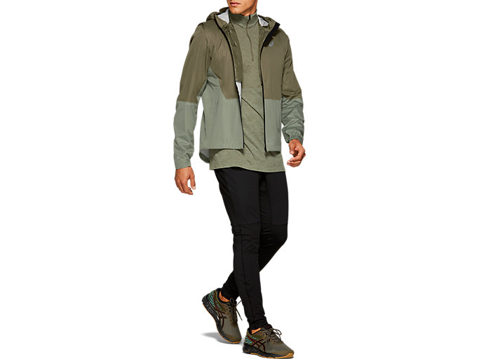 Front Top view of WINTER ACCELERATE JACKET, MANTLE GREEN / LICHEN GREEN