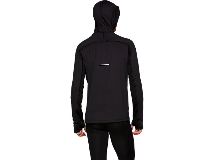 Back view of THERMOPOLIS PLUS HOODIE, PERFORMANCE BLACK