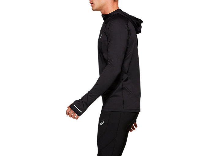 Side view of THERMOPOLIS PLUS HOODIE, PERFORMANCE BLACK