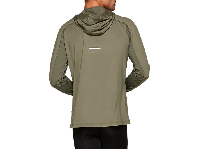 Back view of THERMOPOLIS PLUS HOODIE, MANTLE GREEN
