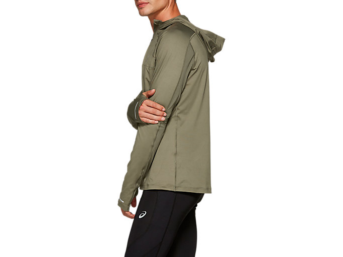 Side view of THERMOPOLIS PLUS HOODIE, MANTLE GREEN