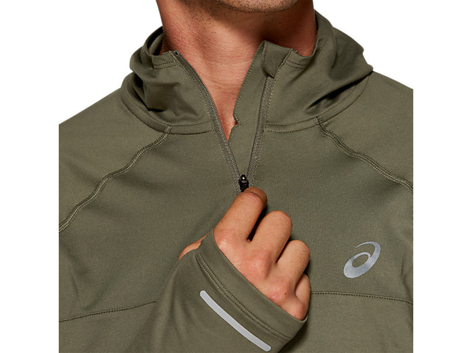 Alternative image view of THERMOPOLIS PLUS HOODIE, MANTLE GREEN