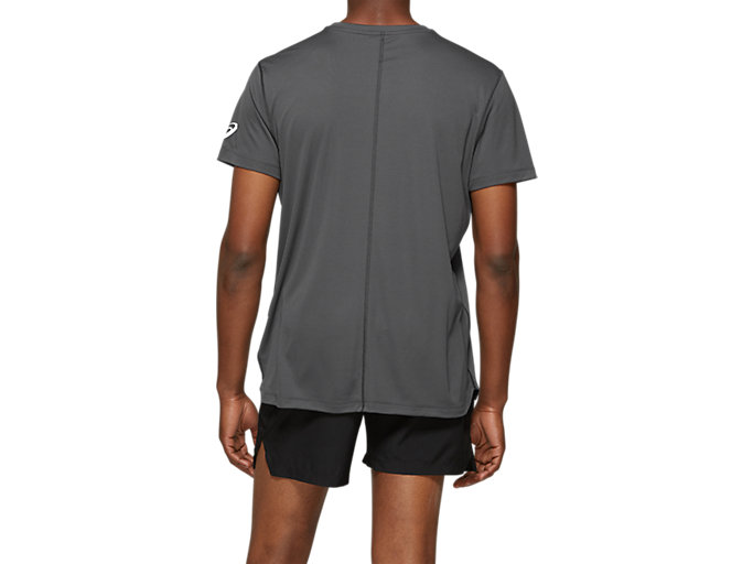 Back view of Silver Asics Short Sleeve
