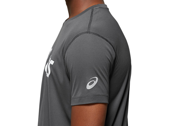 Alternative image view of Silver Asics Short Sleeve