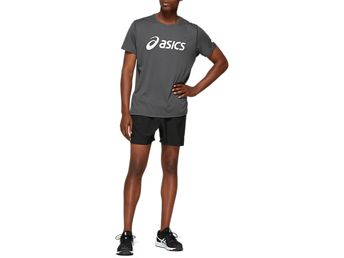Front Top view of Silver Asics Short Sleeve