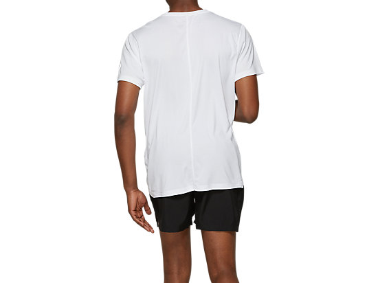 SILVER ASICS TOP BRILLIANT WHITE / PERFORMANCE BLACK