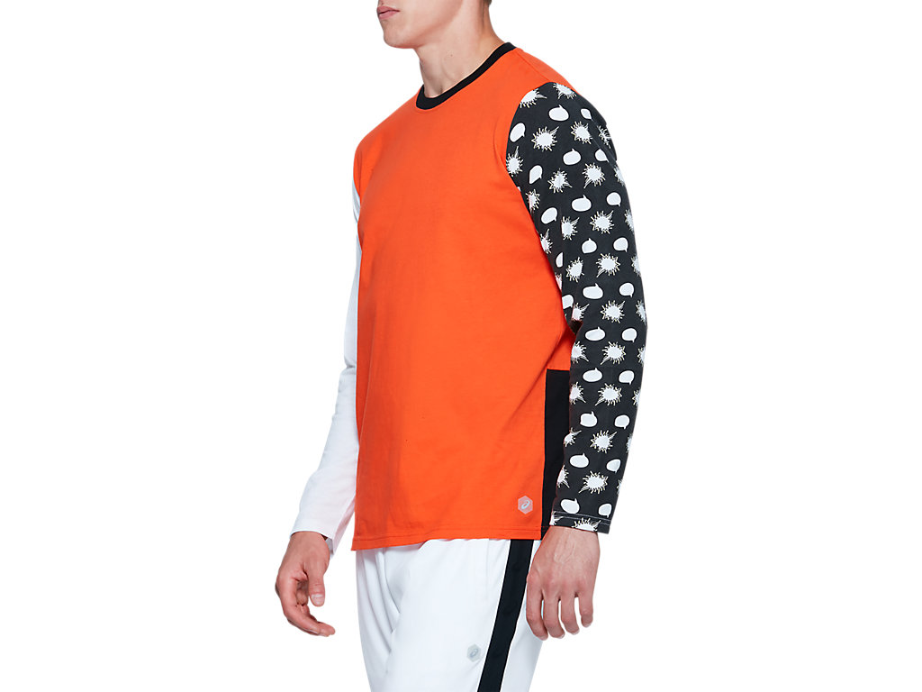ASICS-Tiger-Men-039-s-Long-Sleeve-T-Shirt-Clothes-2011A521 thumbnail 21