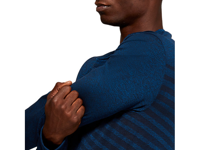 Alternative image view of SEAMLESS LS TOP, MAKO BLUE HEATHER