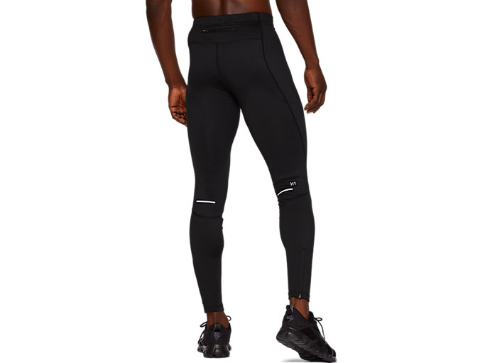 Back view of WINTER TIGHT, PERFORMANCE BLACK