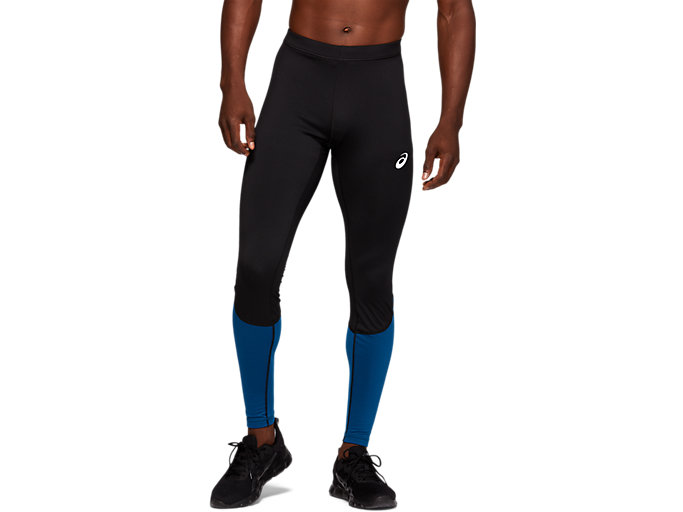 Front Top view of WINTER TIGHT CB, PERFORMANCE BLACK/MAKO BLUE