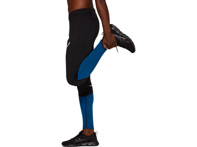 Side view of WINTER TIGHT CB, PERFORMANCE BLACK/MAKO BLUE