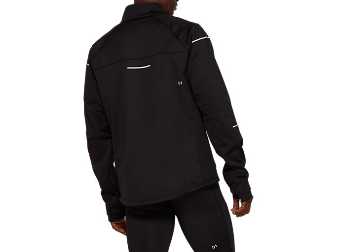 Back view of WINTER JACKET, PERFORMANCE BLACK