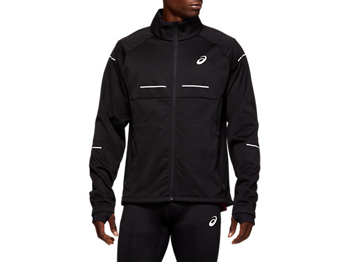Front Top view of WINTER JACKET, PERFORMANCE BLACK