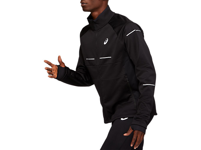 Side view of WINTER JACKET, PERFORMANCE BLACK