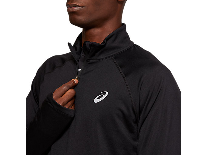 Alternative image view of WINTER 1/2 ZIP TOP, PERFORMANCE BLACK