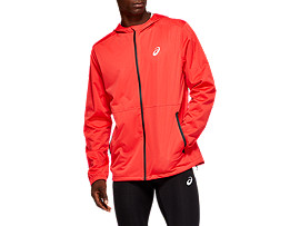 Front Top view of ACCELERATE JACKET, RED ALERT