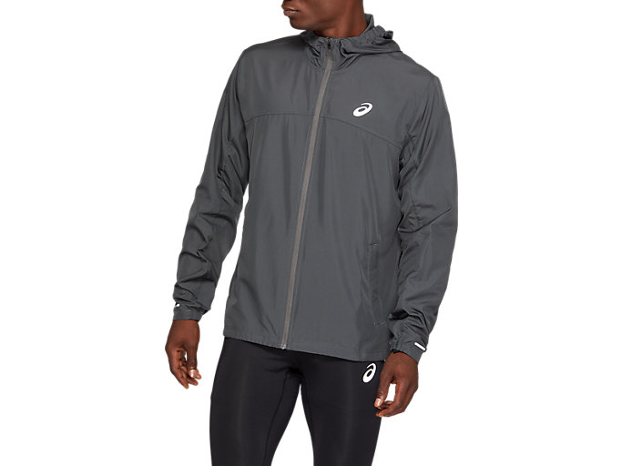 Men's RUN HOOD JACKET | DARK GREY | Coupe vent et vestes