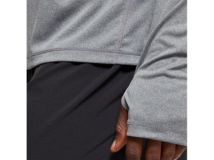 Alternative image view of LS 1/2 ZIP TOP, DARK GREY HEATHER/PERFORMANCE BLACK