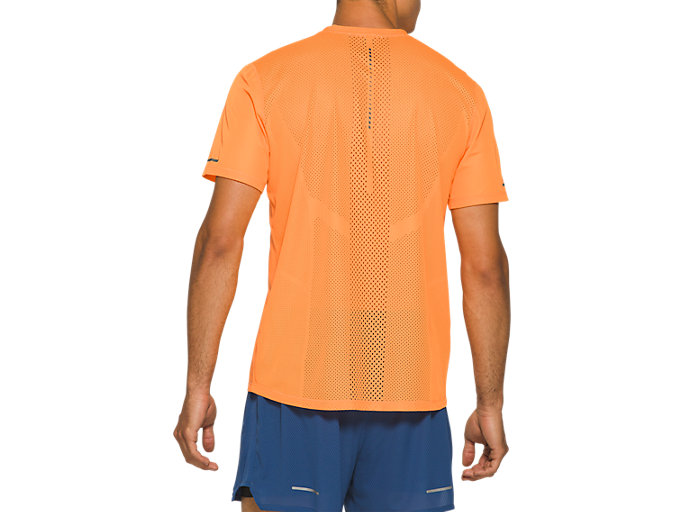 Back view of VENTILATE SS TOP, ORANGE POP