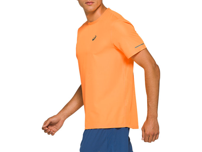 Side view of VENTILATE SS TOP, ORANGE POP