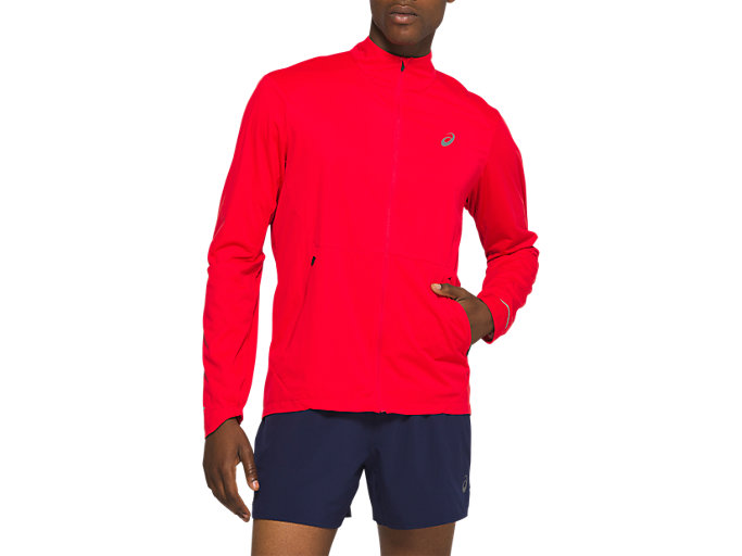 Front Top view of VENTILATE JACKET, CLASSIC RED